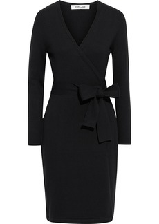 Diane Von Furstenberg Woman New Linda Stretch-knit Wrap Dress Black