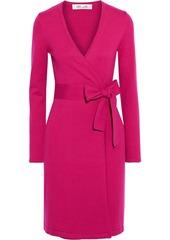 Diane Von Furstenberg Woman New Linda Stretch-knit Wrap Dress Magenta