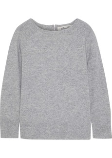 Diane Von Furstenberg Woman Nia Mélange Wool And Cashmere-blend Sweater Gray