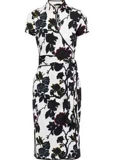 Diane Von Furstenberg Woman Nicole Floral-print Silk-crepe Wrap Dress White