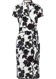 Diane Von Furstenberg Woman Nicole Floral-print Silk-crepe Wrap Dress White