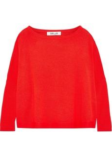 Diane Von Furstenberg Woman Taylin Merino Wool Sweater Tomato Red