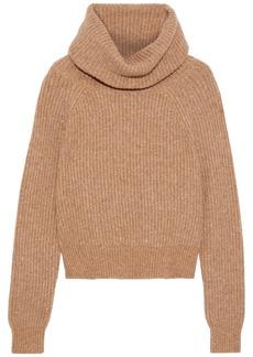 Diane Von Furstenberg Woman Pax Ribbed-knit Turtleneck Sweater Camel