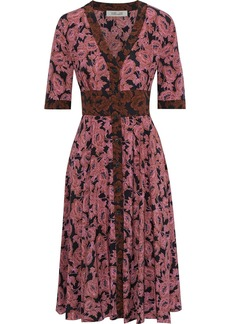 Diane Von Furstenberg Woman Peony Floral-print Silk Crepe De Chine Dress Antique Rose