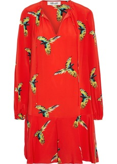 Diane Von Furstenberg Woman Printed Silk Crepe De Chine Dress Tomato Red