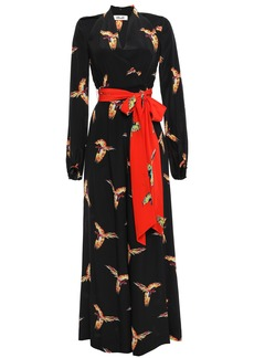 Diane Von Furstenberg Woman Printed Silk Crepe De Chine Jumpsuit Black