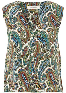 Diane Von Furstenberg Woman Printed Silk Crepe De Chine Top Multicolor