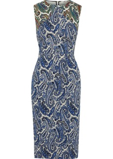 Diane Von Furstenberg Woman Printed Stretch-cotton Twill Midi Dress Blue