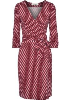 Diane Von Furstenberg Woman New Julian Two Printed Stretch-jersey Wrap Dress Red
