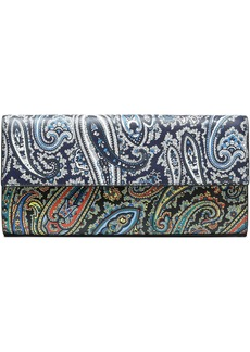 Diane Von Furstenberg Woman Printed Textured-leather Clutch Black