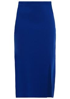 Diane Von Furstenberg Woman Priscilla Stretch-knit Midi Pencil Skirt Royal Blue