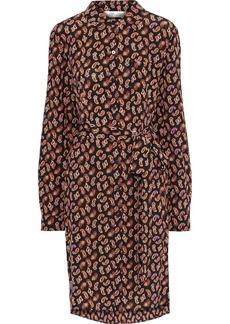 Diane Von Furstenberg Woman Prita Belted Printed Silk Crepe De Chine Shirt Dress Black