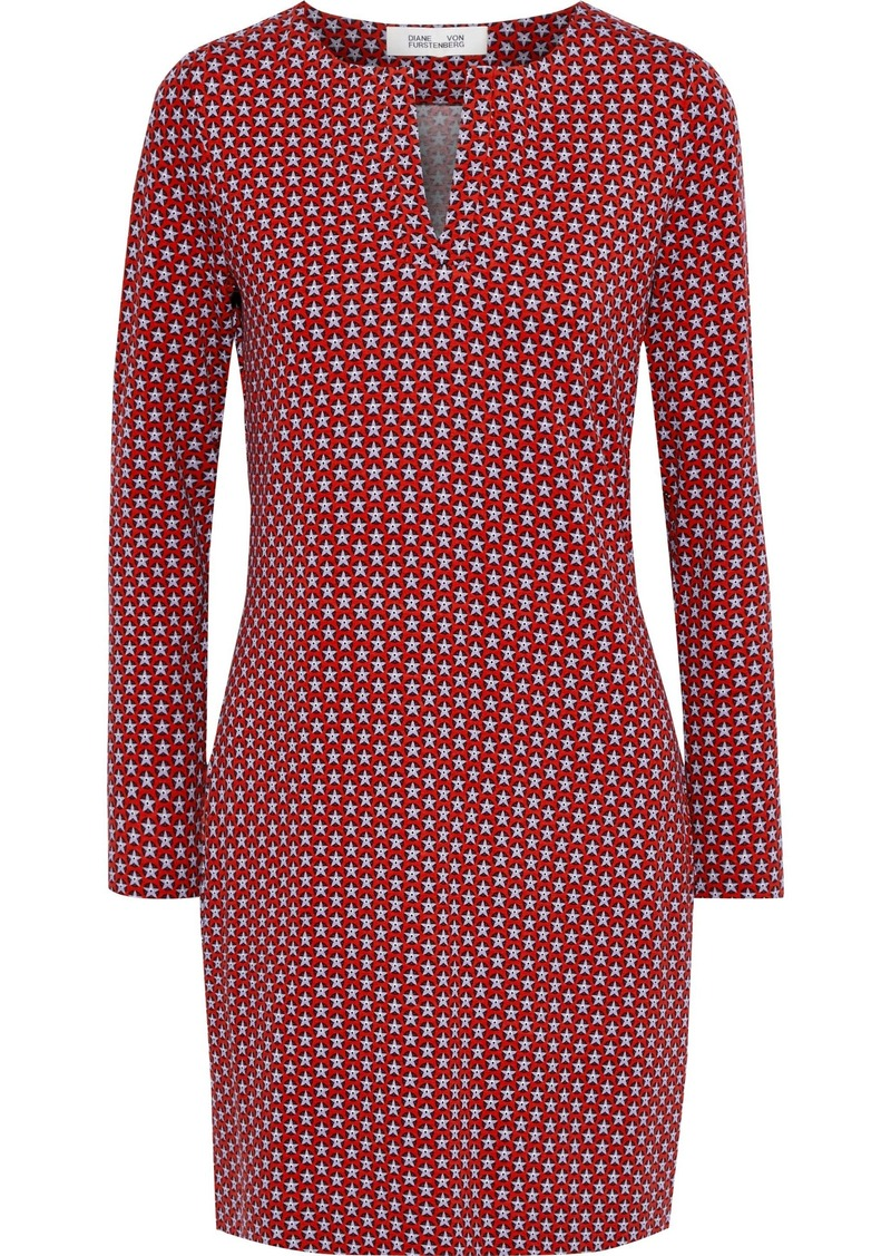Diane Von Furstenberg Woman Reina Printed Stretch-jersey Mini Dress Red