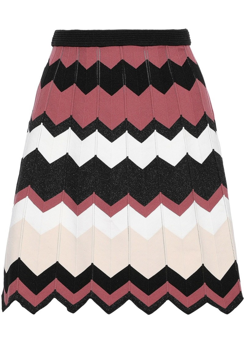 Diane Von Furstenberg Woman Reverie Jacquard-knit Mini Skirt Multicolor