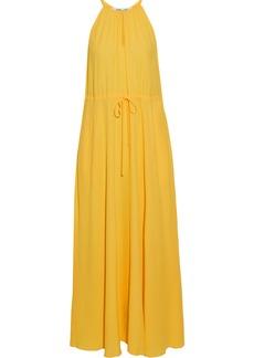 Diane Von Furstenberg Woman Sally Gathered Crepe De Chine Maxi Dress Yellow