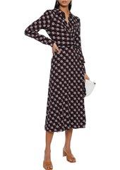 Diane Von Furstenberg Woman Sana Wrap-effect Printed Stretch-jersey Midi Dress Black