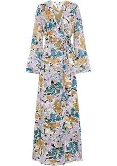 Diane Von Furstenberg Woman Sharon Printed Silk-georgette Maxi Wrap Dress Lilac