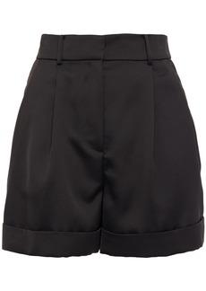 Diane Von Furstenberg Woman Shiana Pleated Satin-crepe Shorts Black