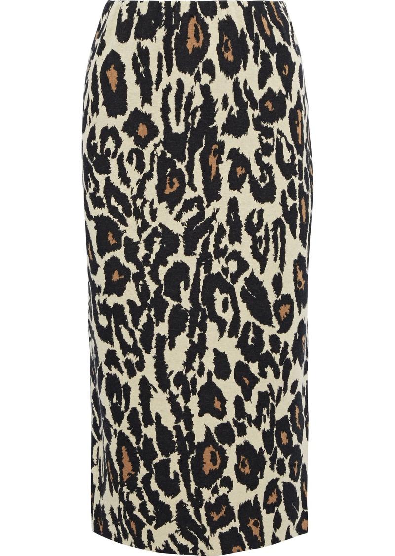 Diane Von Furstenberg Woman Siella Intarsia Cotton Skirt Animal Print
