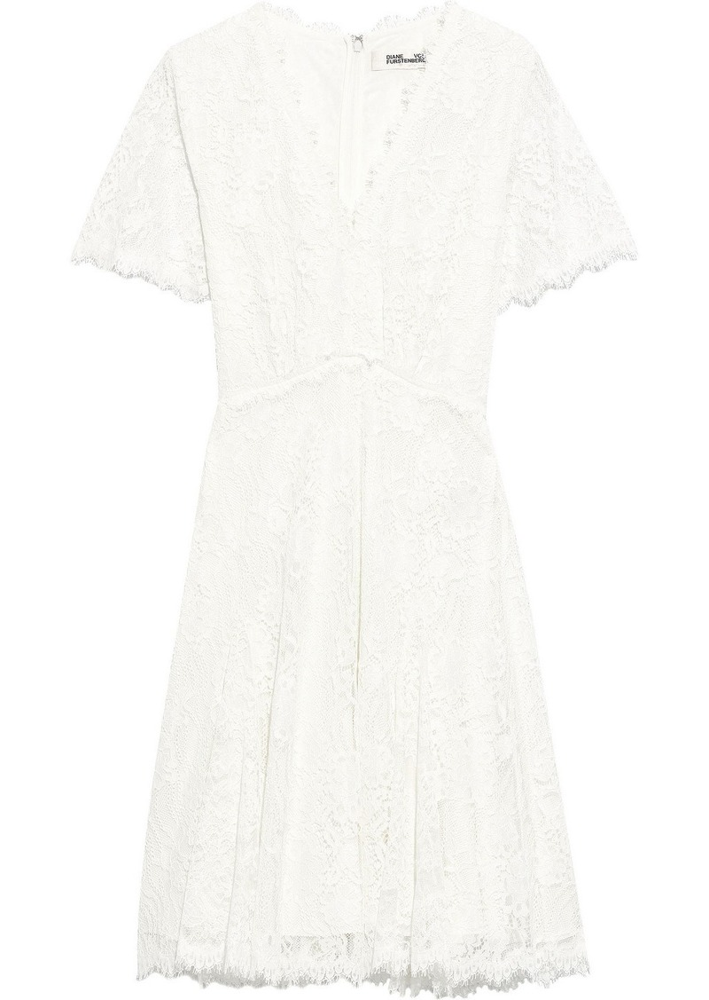 Diane Von Furstenberg Woman Siobhan Corded Lace Dress Off-white