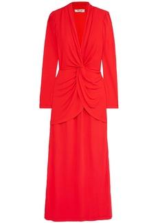 Diane Von Furstenberg Woman Stacia Twist-front Crepe Maxi Dress Red