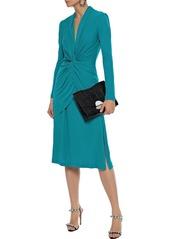 Diane Von Furstenberg Woman Stacia Twist-front Layered Jersey Dress Teal