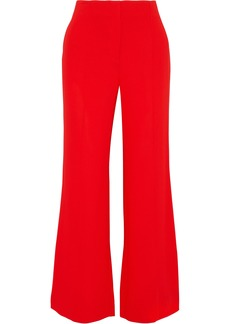Diane Von Furstenberg Woman Stretch-crepe Flared Pants Red