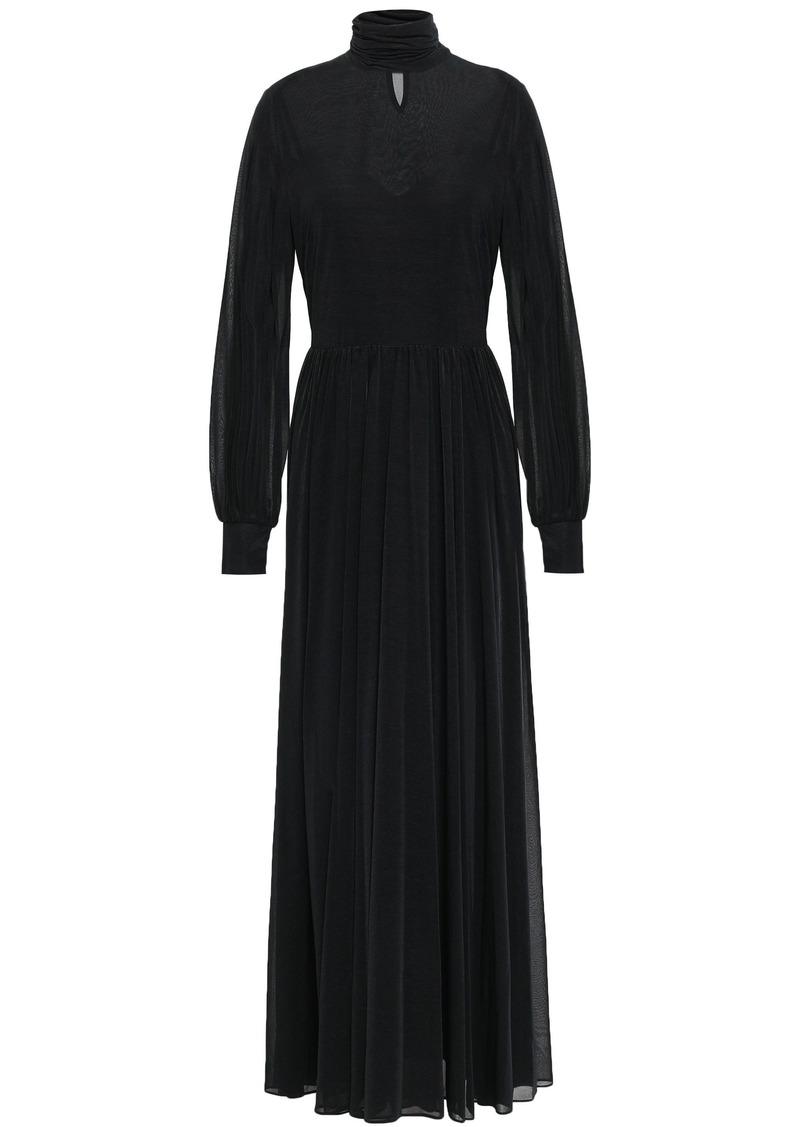 Diane Von Furstenberg Woman Stretch-jersey Turtleneck Maxi Dress Black