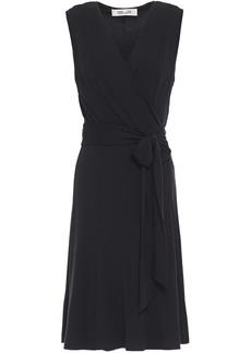 Diane Von Furstenberg Woman Stretch-jersey Wrap Dress Black