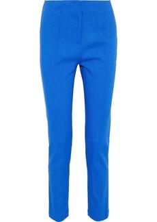 Diane Von Furstenberg Woman Linen-blend Twill Slim-leg Pants Cobalt Blue