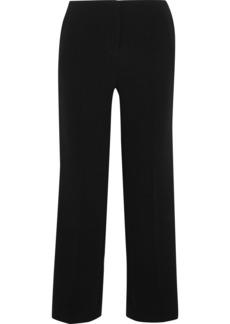 Diane Von Furstenberg Woman Satin-trimmed Crepe Straight-leg Pants Black