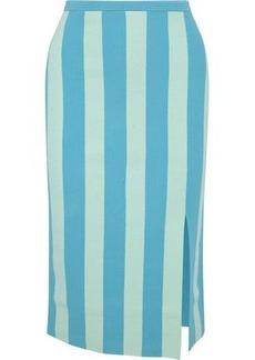 Diane Von Furstenberg Woman Striped Knitted Pencil Skirt Mint