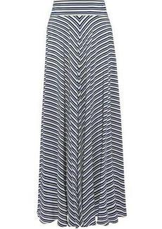 Diane Von Furstenberg Woman Striped Silk Crepe De Chine Maxi Skirt Multicolor