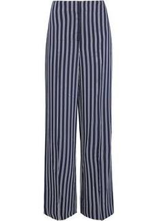 Diane Von Furstenberg Woman Striped Twill Wide-leg Pants Navy