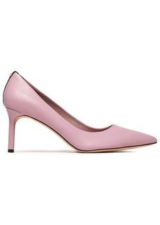 Diane Von Furstenberg Woman Ines Suede-trimmed Leather Pumps Lavender