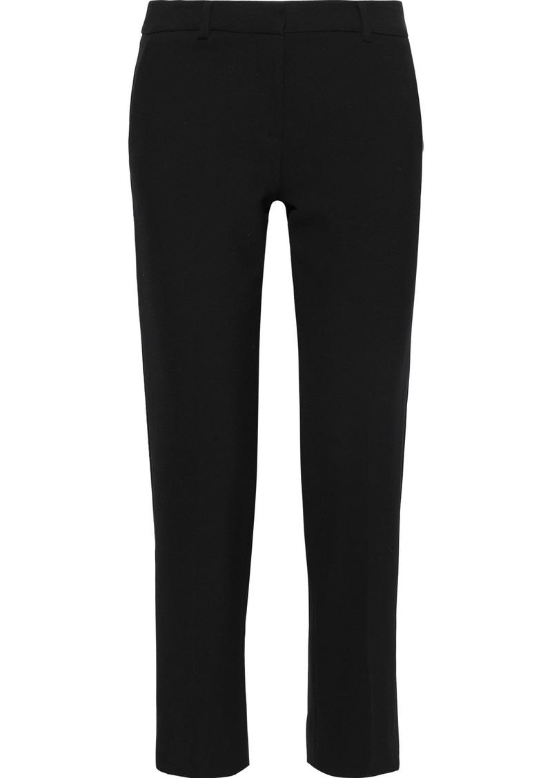 Diane Von Furstenberg Woman Tami Cropped Crepe Straight-leg Pants Black