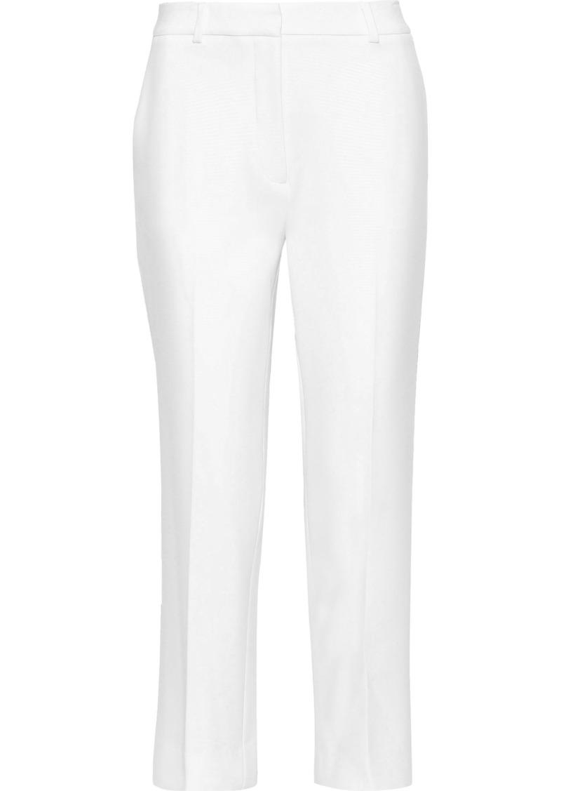 Diane Von Furstenberg Woman Tami Cropped Crepe Straight-leg Pants White