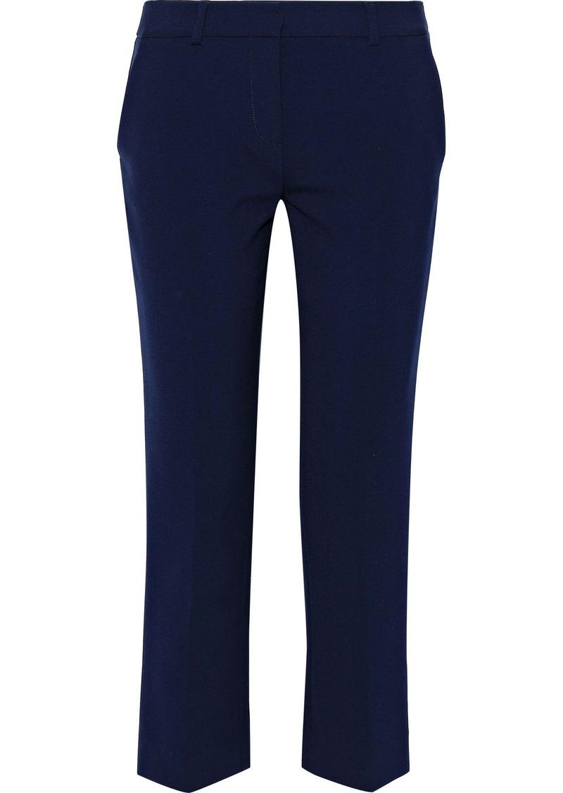 Diane Von Furstenberg Woman Tami Cropped Crepe Straight-leg Pants Navy