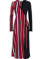 Diane Von Furstenberg Woman Tilly Printed Silk Crepe De Chine Midi Wrap Dress Multicolor