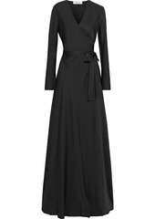 Diane Von Furstenberg Woman Tilly Silk-jacquard Maxi Wrap Dress Black