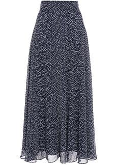 Diane Von Furstenberg Woman Tonnah Floral-print Georgette Maxi Skirt Navy