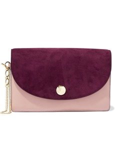Diane Von Furstenberg Woman Two-tone Leather Clutch Burgundy
