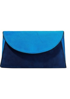 Diane Von Furstenberg Woman Two-tone Suede Envelope Clutch Blue