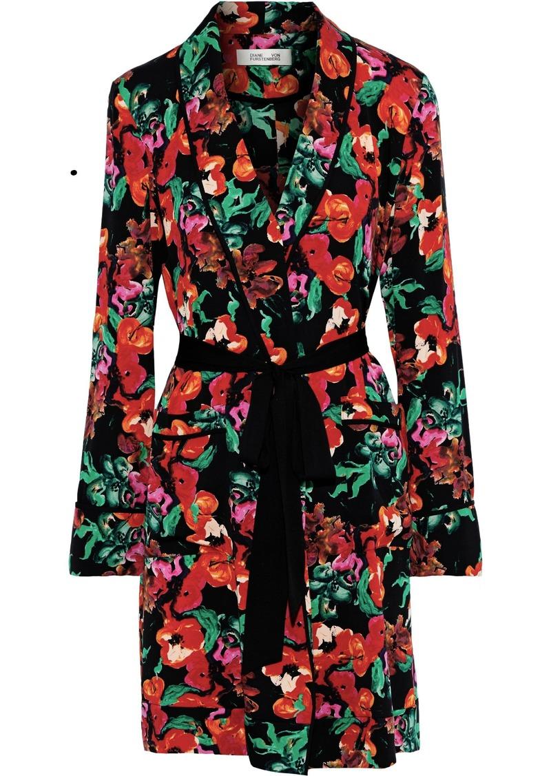 Diane Von Furstenberg Woman Valeria Printed Silk-blend Crepe Kimono Multicolor