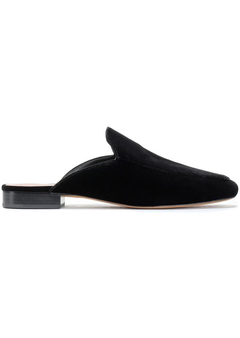 Diane Von Furstenberg Woman Velvet Slippers Black