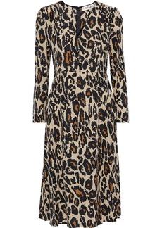 Diane Von Furstenberg Woman Viviana Button-detailed Printed Silk Dress Animal Print