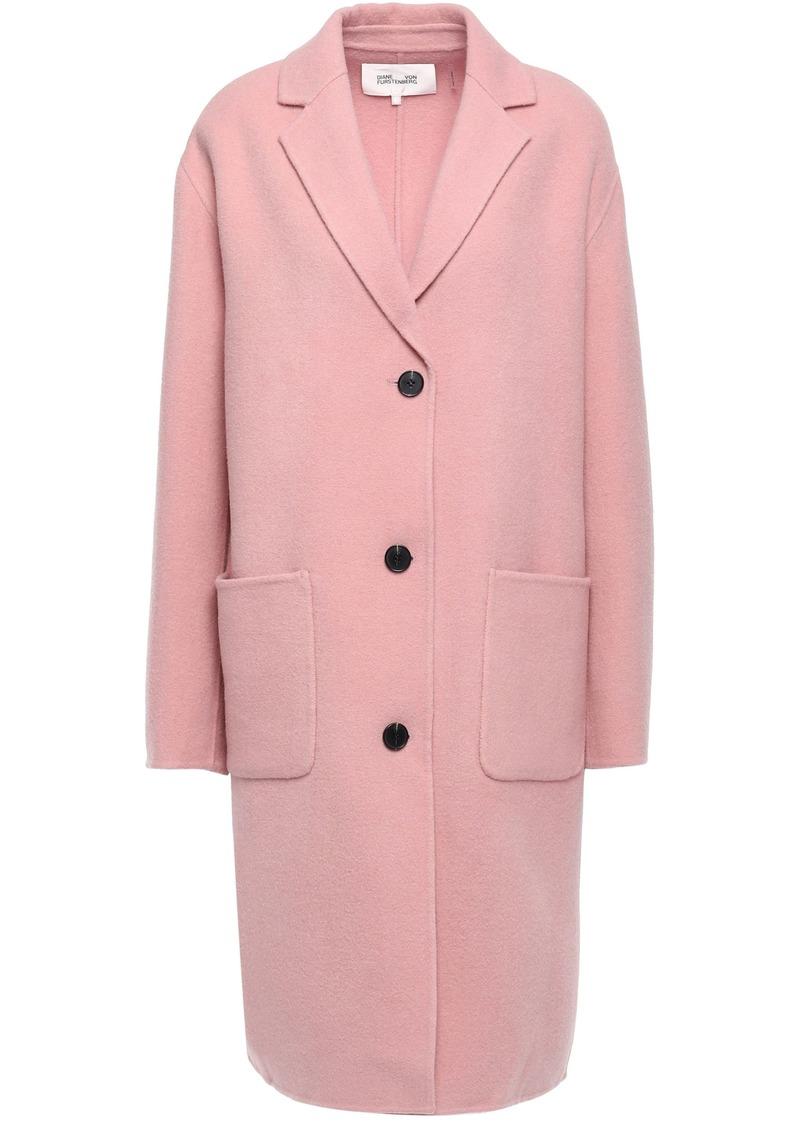 Diane Von Furstenberg Woman Wool-blend Felt Coat Baby Pink