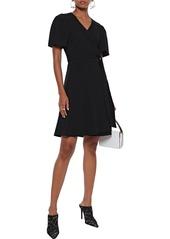 Diane Von Furstenberg Woman Zella Crepe Mini Wrap Dress Black