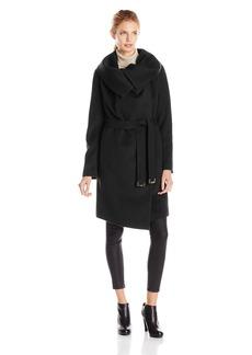 Diane von Furstenberg Women's Beaux Belted Wool Coat