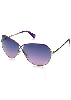 Diane Von Furstenberg Women's DVF107S Bette Oval Sunglasses